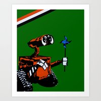 wall e Art Prints featuring WALL-E by iankingart