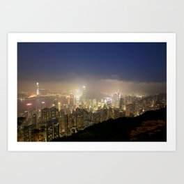 Hong Kong Night View 2014 02 Art Print