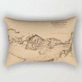 Map of Potomac River 1838 Rectangular Pillow