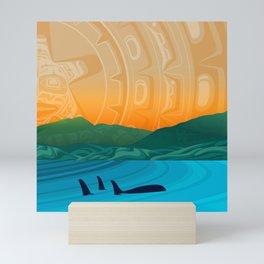 Fairview Bay, Bear & Orca Salish Coast. Mini Art Print