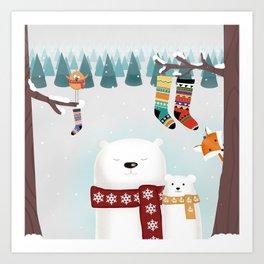 Christmas time Art Print