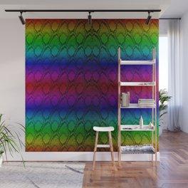 Bright Metallic Rainbow Python Snake Skin Wall Mural