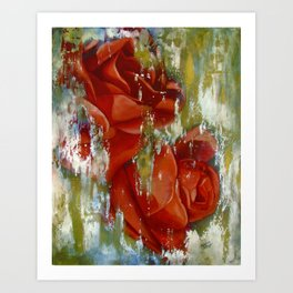 Wine and Roses Art Print