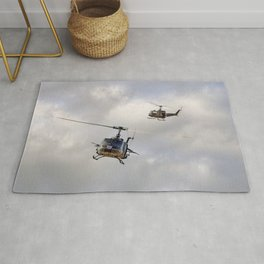 Bell UH-1 Iroquois Helicopters - (A Pair of Hueys) Rug