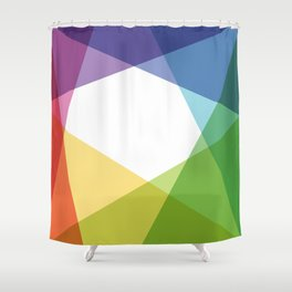 Fig. 004 Colorful Shapes Shower Curtain