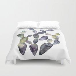 Watercolor violet cactus bunch Duvet Cover