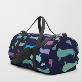 Colorful dachshunds Duffle Bag
