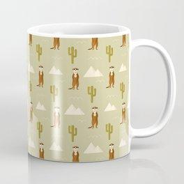 Desert full of meerkats Coffee Mug