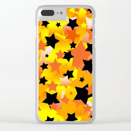 Halloween Stars Clear iPhone Case