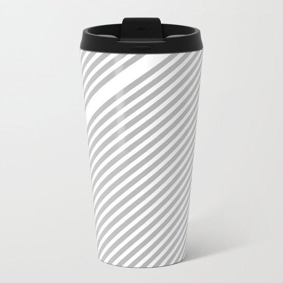 Silver Straws Metal Travel Mug