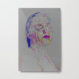 glitch girl Metal Print