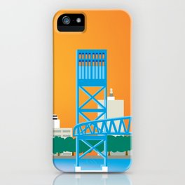 Jacksonville, Florida - Skyline Illustration by Loose Petals iPhone Case