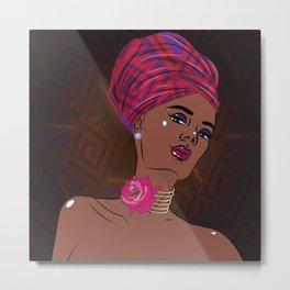 African american black beauty woman Metal Print