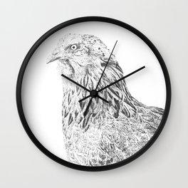 she's a beauty drawing Wall Clock