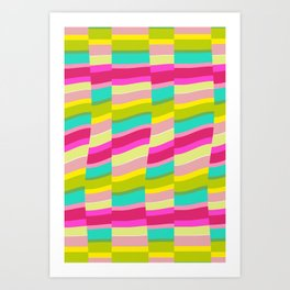 MULTI COLOURED STRIPE Art Print