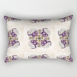 Deadly Daisy Quilt Pattern Rectangular Pillow