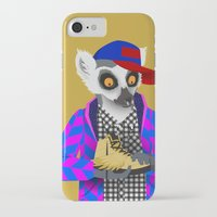 sneaker iPhone & iPod Cases featuring Sneaker Lemur by Dyna Moe