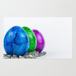 Colored easter eggs Rug