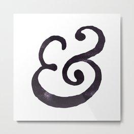 Black Ampersand  Metal Print