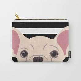 Peeking Frenchie Carry-All Pouch