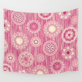 mandala cirque spot pink cream Wall Tapestry