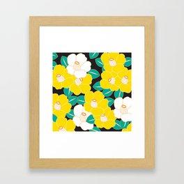 Shades of Tsubaki - Yellow & Black Framed Art Print