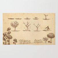tree of life Area & Throw Rugs featuring Tree Life by Mono Ahn