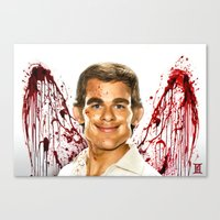 dexter Canvas Prints featuring Dexter by Giampaolo Casarini