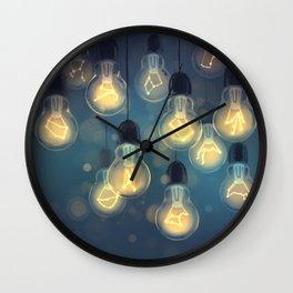 constellation lights Wall Clock