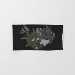 Iceland Map Low Poly Style Wanderlust Hand & Bath Towel