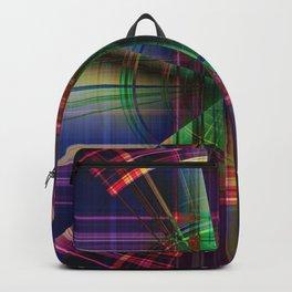 Plaid Movement 001 - Geometric - Unique Plaid - Colorful Plaid Backpack
