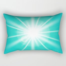 turquoise and light effect Rectangular Pillow