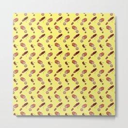 Salami Pattern Metal Print