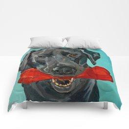 Ozzie the Black Labrador Retriever Comforters