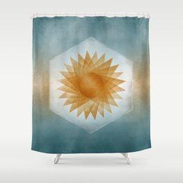 Geometric Sun Shower Curtain