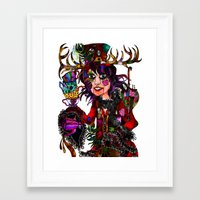 mad hatter Framed Art Prints featuring Mad Hatter  by Holly wilson