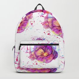 Splashing Purple Flower Backpack