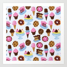 Dessert Pattern Art Print