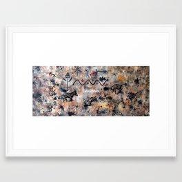 rushing zebras Framed Art Print