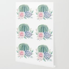 Cactus Rose Succulents Wallpaper
