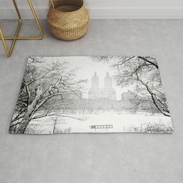 Winter - Central Park - New York City Rug