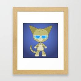 Clarence Cat Framed Art Print