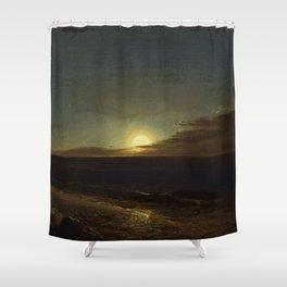 Moonrise Landscape by Frederic Edwin Church Shower Curtain
