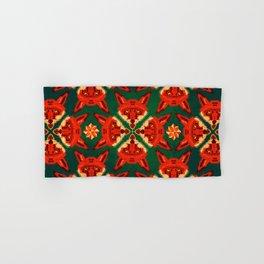 Fox Cross geometric pattern Hand & Bath Towel