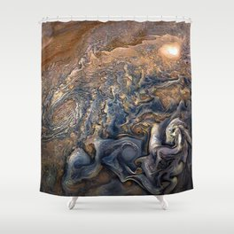 Jupiter's Clouds Shower Curtain