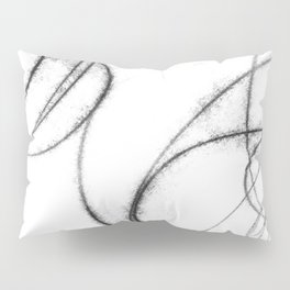 Minimalist Abstract Black and White Line Drawing Pillow Sham