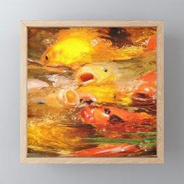 TEXTURES: Koi Swarm Framed Mini Art Print
