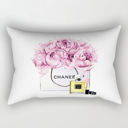 Coco Mademoiselle Fashion Drawing Wall Art Fashion Illustration Print Perfume Coco Custom Art Rectangular Pillow