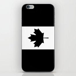 Canada: Black Military Flag iPhone Skin