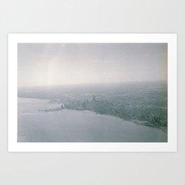 Over Chicago Art Print